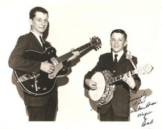 SIGNED, PROFESSIONAL PHOTOGRAPH OF THE WALKER BROTHERS, WAYNE & BOB:; American country...