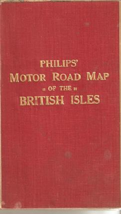 PHILIPS' MOTOR ROAD MAP OF THE BRITISH ISLES. Great Britain