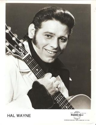 PROFESSIONAL PHOTOGRAPH OF HAL WAYNE:; Country & Western performer. Hal Wayne