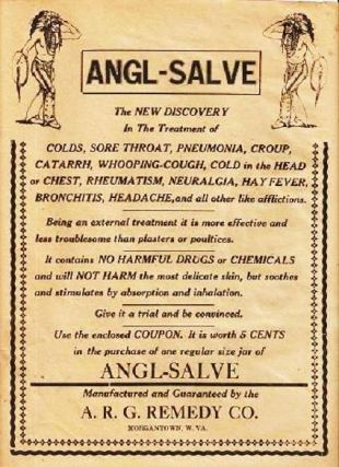 ANGL-SALVE -- The New Discovery... [broadside]:; In the Treatment of Colds, Sore Throat,...
