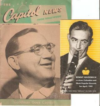 TWO ITEMS FEATURING BENNY GOODMAN: Capitol News from Hollywood, Vol. 5, No. 3, March 1947 + ...