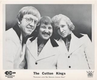 PROFESSIONAL PHOTOGRAPH OF THE COTTON KINGS (trio):; Featured with the Sherwin Linton Show....