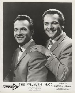 PROFESSIONAL PHOTOGRAPH OF THE WILBURN BROTHERS:; Country & Western Performers. Teddy and Doyle...