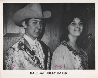 SIGNED, PROFESSIONAL PHOTOGRAPH OF DALE AND HOLLY BATES:; Country & Western performers. Dale and...