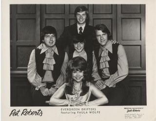 PROFESSIONAL PHOTOGRAPH OF THE EVERGREEN DRIFTERS, FEATURING PAULA WOLFE:; Country & Western...