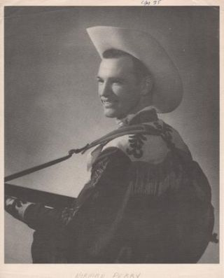 PROFESSIONAL PHOTOGRAPH OF NORMAN PERRY:; Country & Western performer. Norman Perry