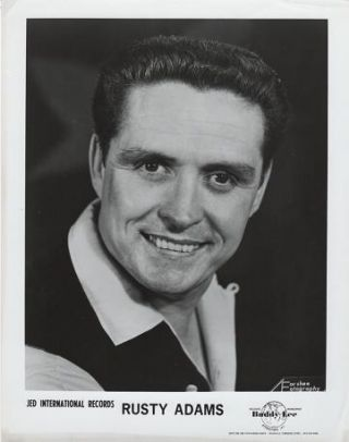 PROFESSIONAL PHOTOGRAPH OF RUSTY ADAMS:; Country & Western Performer. Rusty Adams