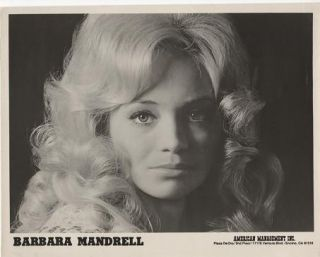 PROFESSIONAL PHOTOGRAPH OF BARBARA MANDRELL:; Country & Western performer. Barbara Mandrell