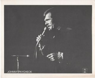 PROFESSIONAL PHOTOGRAPH OF JOHNNY PAYCHECK:; Country & Western Performer.