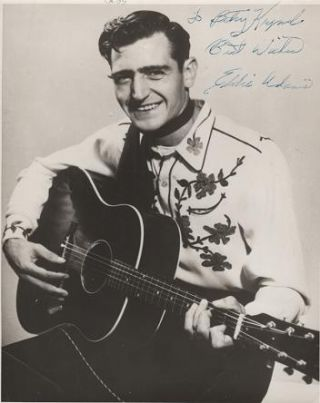 SIGNED, PROFESSIONAL PHOTOGRAPH OF EDDIE ADAMS:; Country & Western performer. Eddie Adams