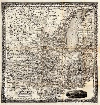 WESTERN PORTRAITURE, AND EMIGRANT'S GUIDE; A Description of Wisconsin, Illinois and Iowa, with Remarks on Minnesota, and Other Territories