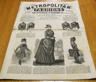 METROPOLITAN FASHIONS, LONDON AND NEW YORK, Vol. XVIII, No. 4, April 1886:; Any sizes of the Patterns herein specified will be sent post-paid on receipt of price. E.L. Bliss, No. 365 Main Street, Hartford, Conn. Butterick Publishing Co.
