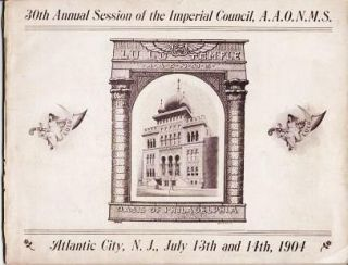 ATLANTIC CITY, THE GEM OF THE COAST.; [cover title]: 30th Annual Session of the Imperial...