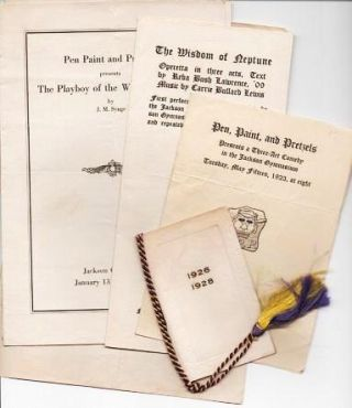 LOT OF FIVE (6) EPHEMERAL ITEMS, 1923-1927. Jackson College for Women Tufts College