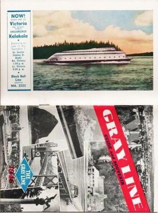GRAY LINE GUIDE AND SOUVENIR, 1946. Portland Oregon, Washington Seattle.