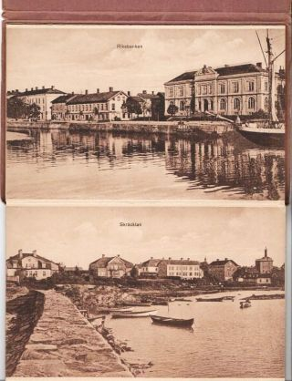 VIEWBOOK OF SCENES IN AND AROUND VANERSBORG, SWEDEN:; Photographs printed in sepiatones on heavy...