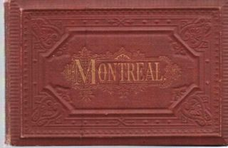 MONTREAL:; Viewbook, 18 panels of Albertype, photo-lithographic views by Louis Glaser. Montreal...