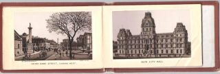 MONTREAL:; Viewbook, 18 panels of Albertype, photo-lithographic views by Louis Glaser.