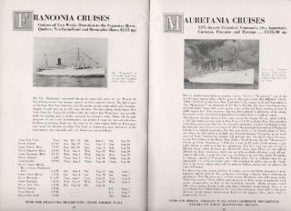 VACATION TRIPS AND CRUISES, 1934