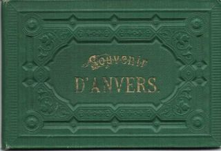SOUVENIR D'ANVERS:; Viewbook. Anvers Belgium.