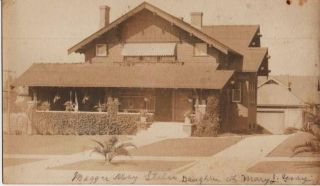 LARGE, REAL-PHOTO POST CARD, SHOWING THE HOME OF MAGGIE MAY STILES, DAUGHTER OF MARY J. GRAY....