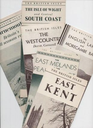 THE BRITISH ISLES. Group of six brochures: East Kent; The East Midlands and the Peak District;...