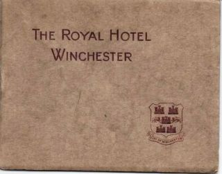 THE ROYAL HOTEL, WINCHESTER:; G. James, Proprietor. Winchester England