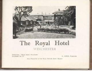 THE ROYAL HOTEL, WINCHESTER:; G. James, Proprietor.