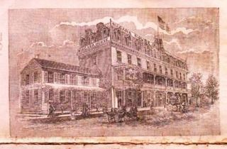 NIAGARA HOUSE: Open Summer and Winter. Niagara Falls, N.Y. Joseph V. Carr, Proprietor. Two Dollars per Day.