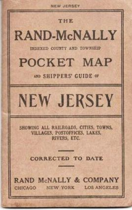INDEXED COUNTY AND TOWNSHIP POCKET MAP AND SHIPPERS' GUIDE OF NEW JERSEY:; Accompanied by a New...