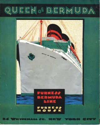 QUEEN OF BERMUDA: information and Deck Plan. Furness Bermuda Line