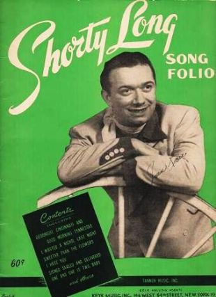 "SHORTY LONG SONG FOLIO. ""Shorty"" Long, Emidio Vagnoni"