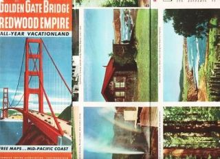 GOLDEN GATE BRIDGE, REDWOOD EMPIRE. San Francisco California.