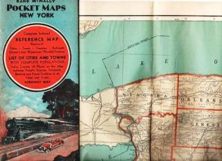 RAND McNALLY POCKET MAPS OF NEW YORK: For Tourists, Travelers, Shippers. General Commercial and...