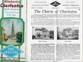 HISTORIC CHARLESTON, SOUTH CAROLINA: A Condensed Guide with Map [cover title]. Charleston South...