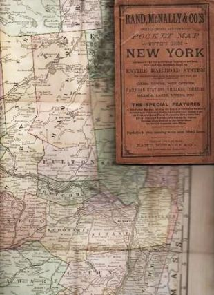 RAND, McNALLY & CO.'S INDEXED COUNTY AND TOWNSHIP POCKET MAP AND SHIPPERS' GUIDE OF NEW YORK:; ...