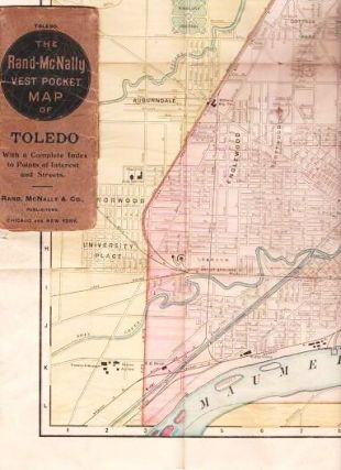 THE RAND-McNALLY VEST POCKET MAP OF TOLEDO: With a Complete Index to Points of Interest and...