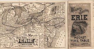 WESTERN SECTION, ERIE, POCKET TIME TABLE.; R.H. Soule, Gen'l Manager. L.P. Farmer, Gen'l Pass'r Agt. Lake Erie New York, Western Railroad.