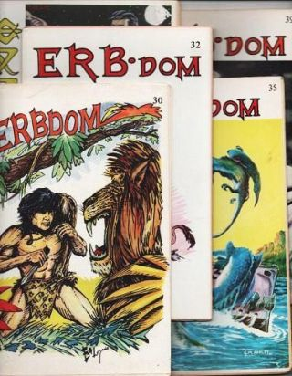 ERB-DOM AND THE FANTASY COLLECTOR (EDGAR RICE BURROUGHS): Group of five (5) issues. C. E....