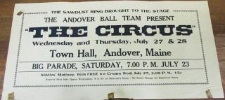 "THE SAWDUST RING BROUGHT TO THE STAGE: THE ANDOVER BALL TEAM PRESENT ""THE CIRCUS"" - Wednesday..."