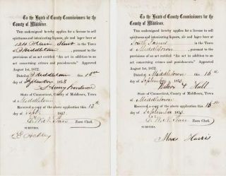 "APPLICATION FOR A ""LICENSE TO SELL SPIRITUOUS AND INTOXICATING LIQUORS, ALE AND LAGER BEER""..."
