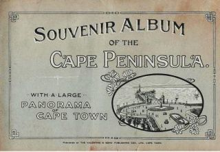 SOUVENIR ALBUM OF THE CAPE PENINSULA: With a Large Panorama of Cape Town. South Africa Cape Town.