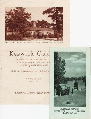 Two printed brochures: SUMMER VICTORIOUS LIFE CONFERENCES, 1937 [with] KESWICK COLONY: Where Dead Men Begin to Live. Keswick Grove New Jersey.