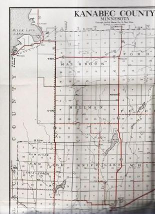 STANDARD MAP OF KANABEC COUNTY, MINNESOTA: Showing State Trunk Highways and other Improved Roads...