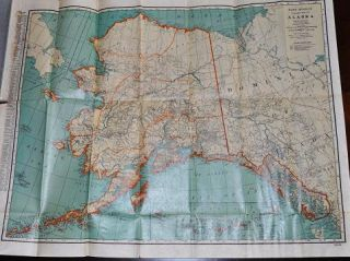 ALASKA: POCKET MAP--Showing Political Divisions, Cities and Towns, etc.