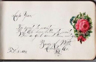 AUTOGRAPH SENTIMENT, FRIENDSHIP ALBUM KEPT BY THIS YOUNG MAN OF WARWICK, CHESTER COUNTY, PENNSYLVANIA, 1883