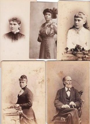 CABINET CARD PHOTOGRAPHS (5) OF THREE MEMBERS OF THE McGUIRE FAMILY OF PHILADELPHIA. Henry McGuire