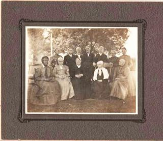 TWO GROUP PORTRAITS OF THIS PHILADELPHIA [CHESTER COUNTY?] FAMILY, ONE OF THE WOMEN IN QUAKER...