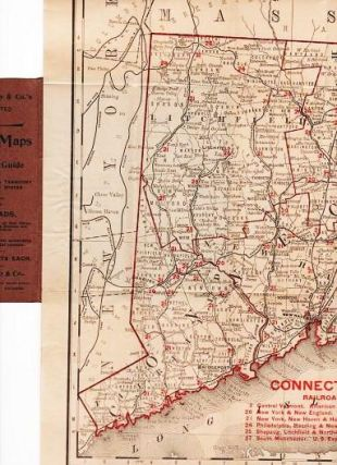 THE RAND-McNALLY VEST POCKET MAP OF CONNECTICUT AND RHODE ISLAND: Showing all Counties, Cities,...