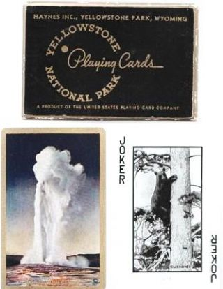 YELLOWSTONE NATIONAL PARK PLAYING CARDS. Yellowstone Park Wyoming